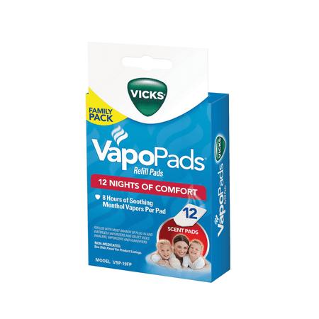 Vicks VapoPad Family Pack 12 Pack, VSP19-FP