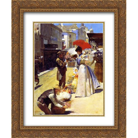 Tom Roberts 2x Matted 20x24 Gold Ornate Framed Art Print
