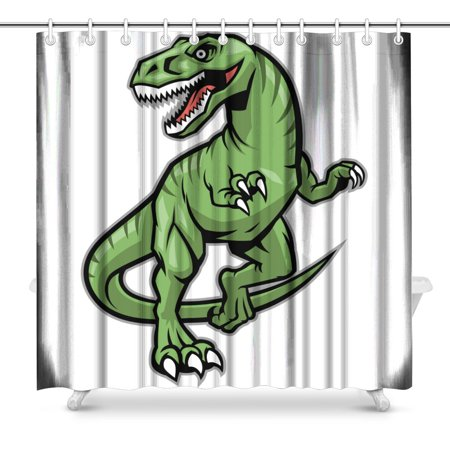 POP Raptor Dinosaur Mascot Art Decor Bathroom Shower Curtain 66x72 inch - image 1 of 1