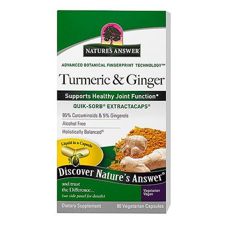 Nature's Answer Turmeric & Ginger Capsules, 90 Ct