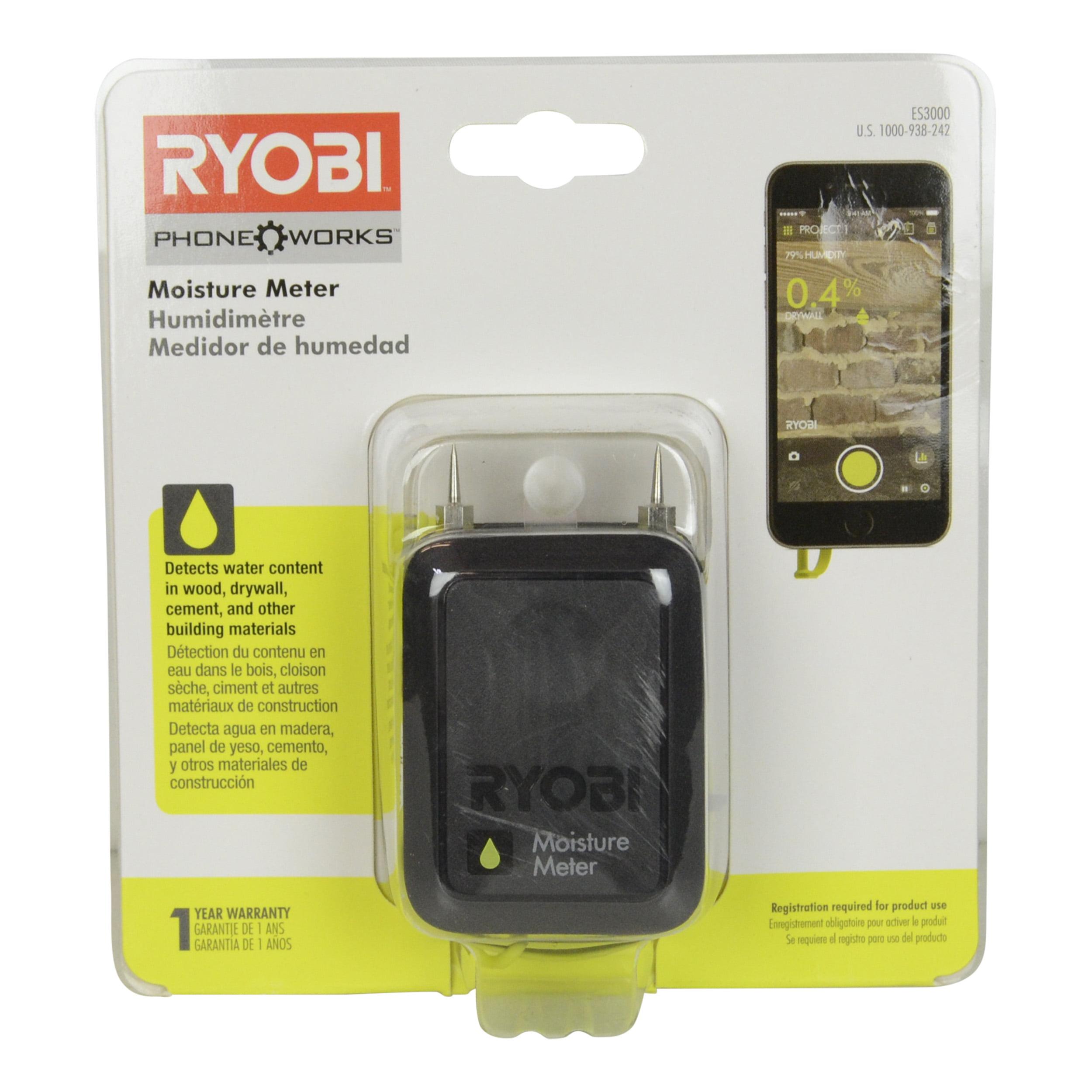 Ryobi Tools ES3000 Phone Works Moisture Meter by