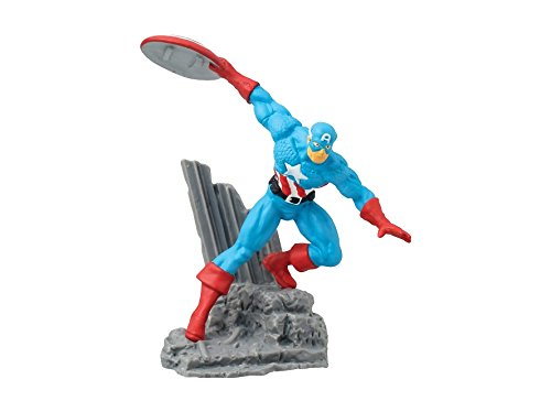 "Action Figure Marvel Diorama Captain America 2.75"" New Licensed 68001 by Monogram"
