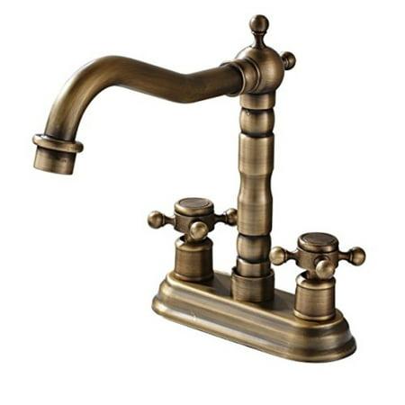 Rozin 4 Inch Centre Hole Bathroom Sink Faucet 2 S Basin Mixer Tap Antique Br