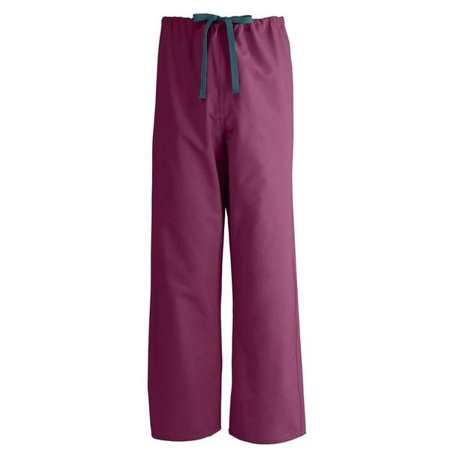 Burgandy Apparel - T180 UNISEX REVERSIBLE SCRUB PANTS -Size MEDIUM -BURGANDY 1 Dozen