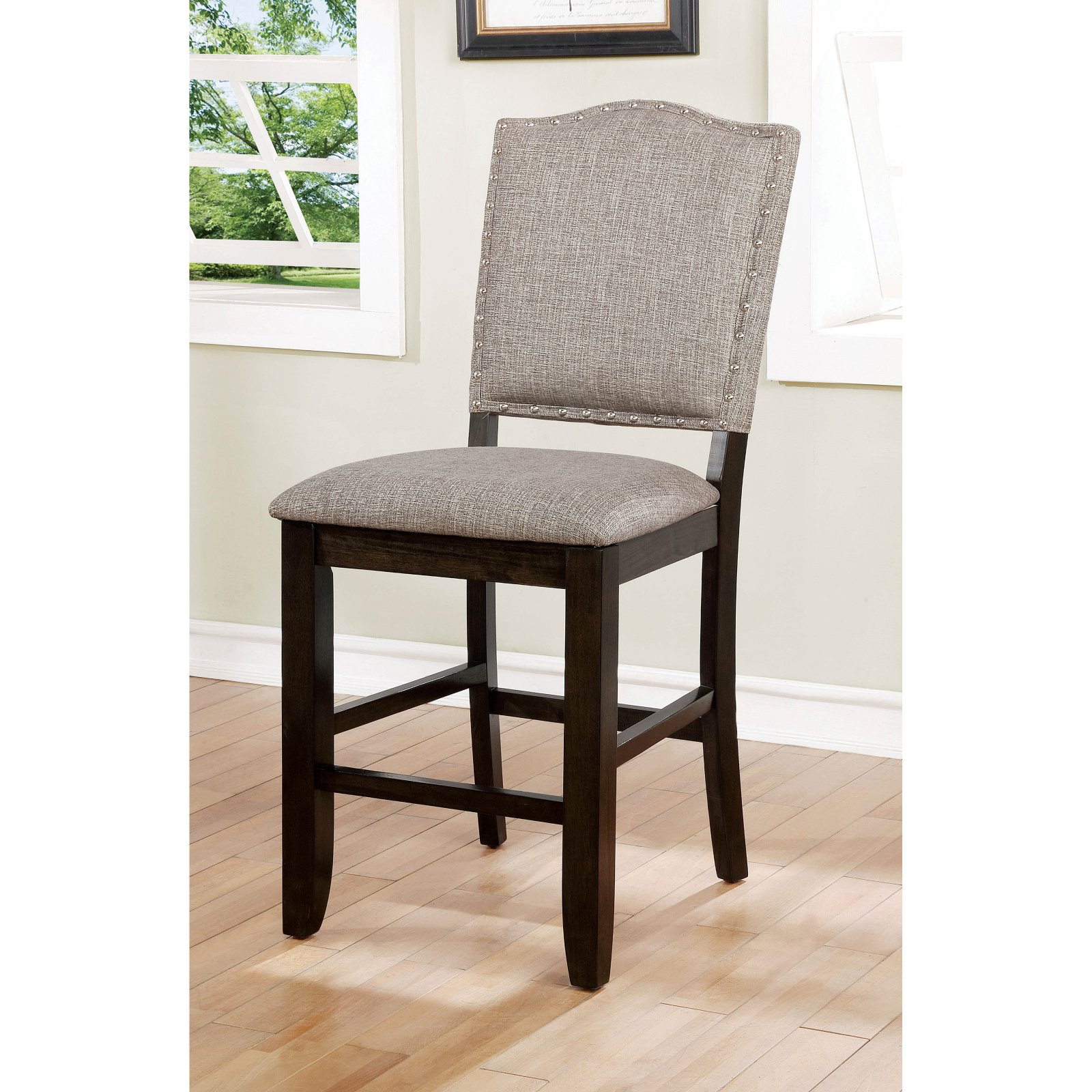 Bon Furniture Of America Carter Nailhead Trim Counter Height Dining Side Chair    Set Of 2