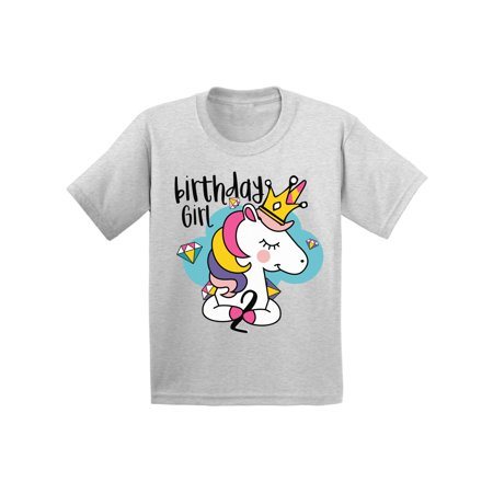 ee48dd0d1 Awkward Styles Birthday Girl Toddler Shirt Princess Unicorn Tshirt for Girls  Unicorn Gifts for 2 Year Old Girl 2nd Birthday Party Outfit Unicorn Birthday  ...