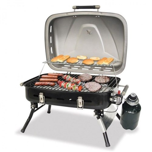 Charmant Blue Rhino Outdoor LP Gas Grill, Stainless Steel