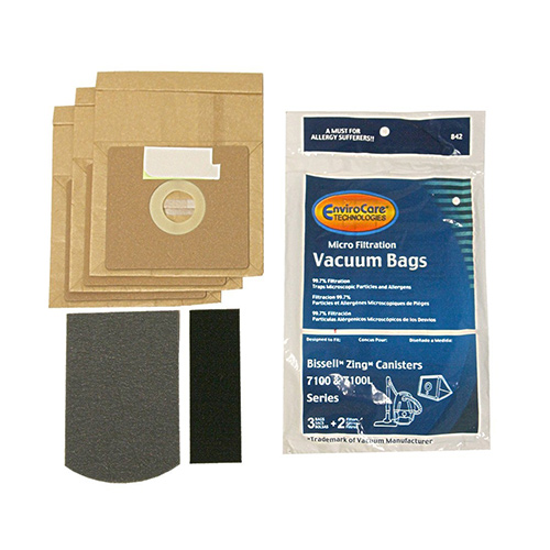 Replacement Vacuum Bag for Bissell Powerforce 1668W Canister 2 Pack