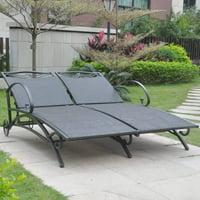 International Caravan Valencia Outdoor Wicker Double Chaise Lounge