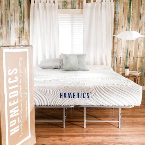 HoMedics Revive 9 Gel Memory Foam Mattress and Bed Frame Set