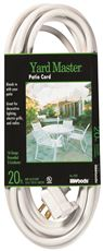 Coleman Cable Yard Master Outdoor Extension Cord, 40 Ft., White by Coleman Cable