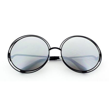 MLC EYEWEAR Sophisticated Double Round Frame Fashion Sunglasses (Round Frames Eyewear India)