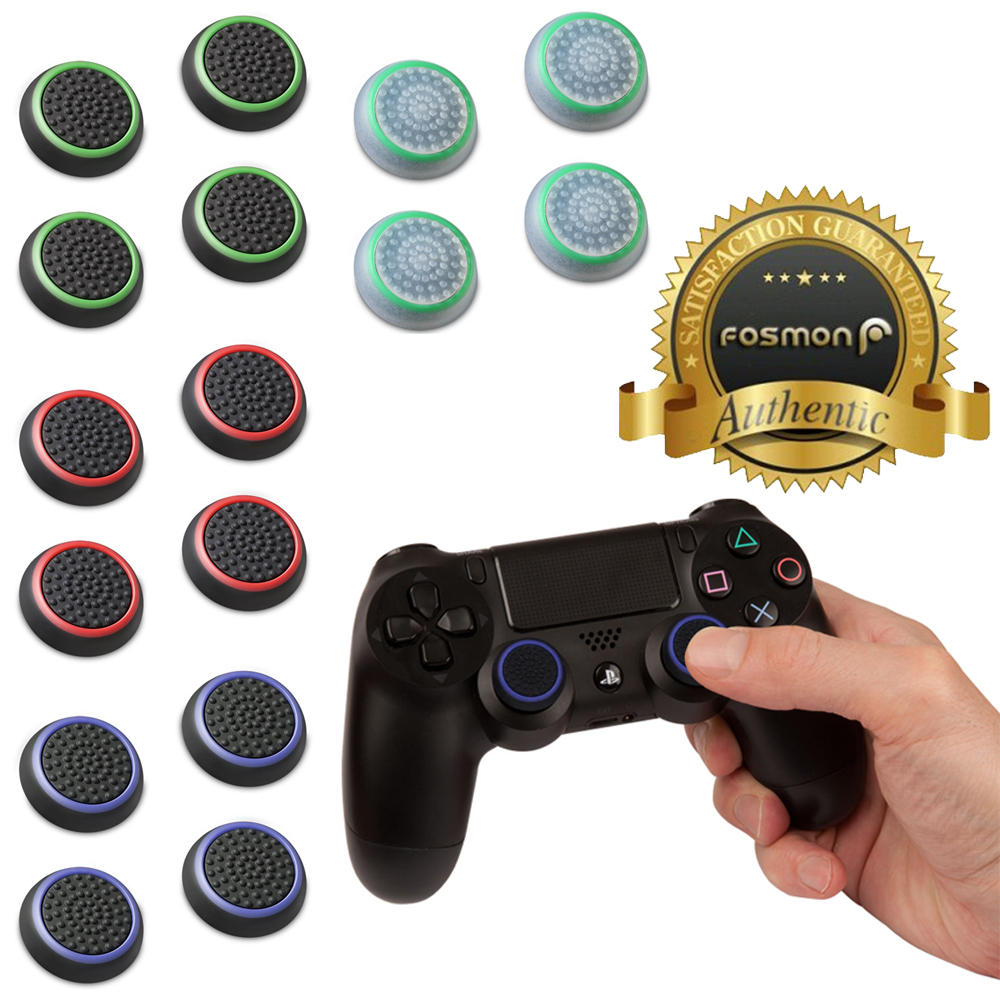 Fosmon [Set of 16] Analog Stick Joystick Controller Performance Thumb Grips for PS4 | PS3 | Xbox ONE, ONE X | Xbox 360 | Wii U - Assorted (Set of 16)