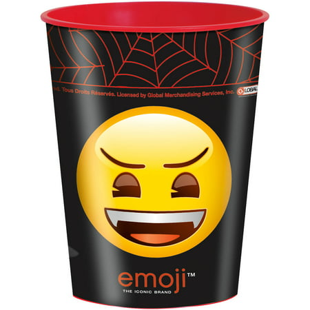 Unique Industries Monsters Emoji Halloween Plastic Cup, 16 oz, 1ct (Halloween Industry Trade Show)