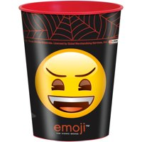 Unique Industries Monsters Emoji Halloween Plastic Cup, 16 oz, 1ct by Plastic Glasses