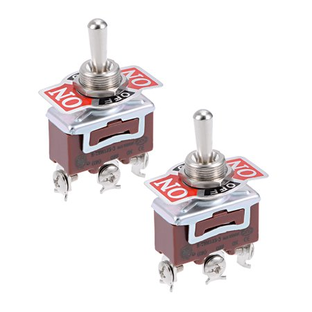 SPDT Rocker Toggle Switch AC 16A 250V 3P (Momentary ON)/OFF/(Latching ON) 2pcs - image 3 of 3
