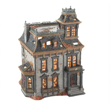 department 56 halloween village mordecai mansion 4025337 retired