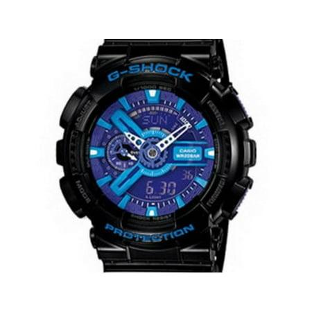 b2f1a117f Casio - Men GA110HC-1A G-Shock Black G-Shock Analog Digital Anti-Magnetic  Blue Pur - Walmart.com