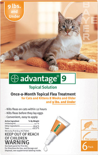 Advantage Flea Control for Cats 1-9 lbs 6 Month Supply by Advantage