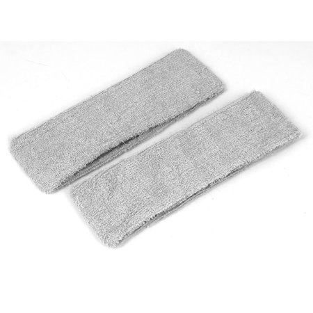 Unique Bargains Cotton Adjustable Stretchable Athletic Makeup Shower Headband Gray 2 Pcs
