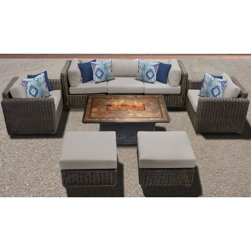 Sol 72 Outdoor Fairfield 8 Piece Sofa Seating Group with Cushions