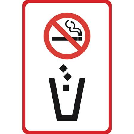 No Smoking Symbol No Cigarettes In Trash Picture Street Business Office - Symbol Cigarette