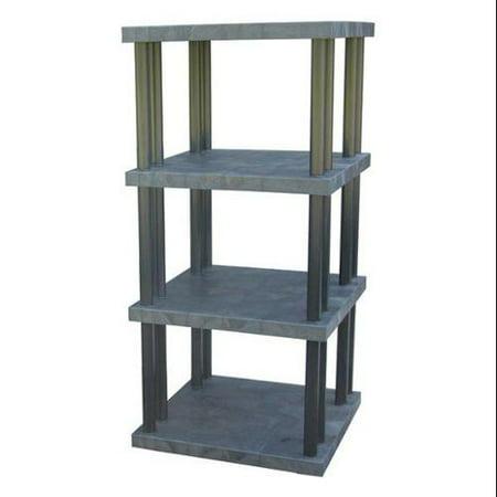 Dura Shelf Shelving - DURA-SHELF ST3636x4 Bulk Shelving, Solid Top, 4 Shelf, 36x36x75