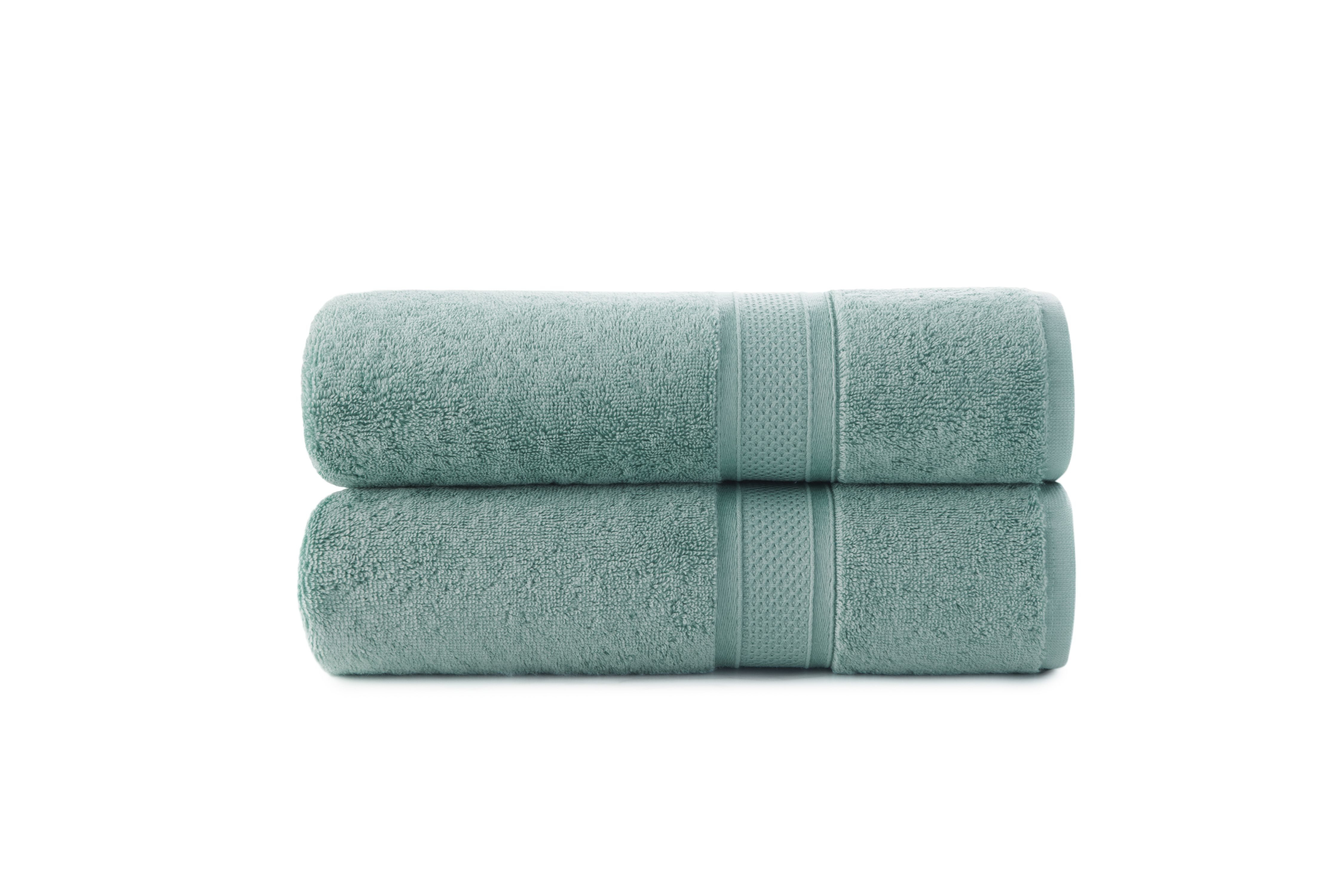 Bamboo Cotton Luxury 2 Piece Bath Towel Set by Baltic Linen