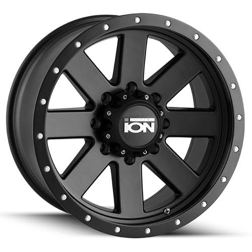 "17"" Inch Ion 134 17x8.5 5x139.7(5x5.5"") -6mm Matte Black Wheel Rim"