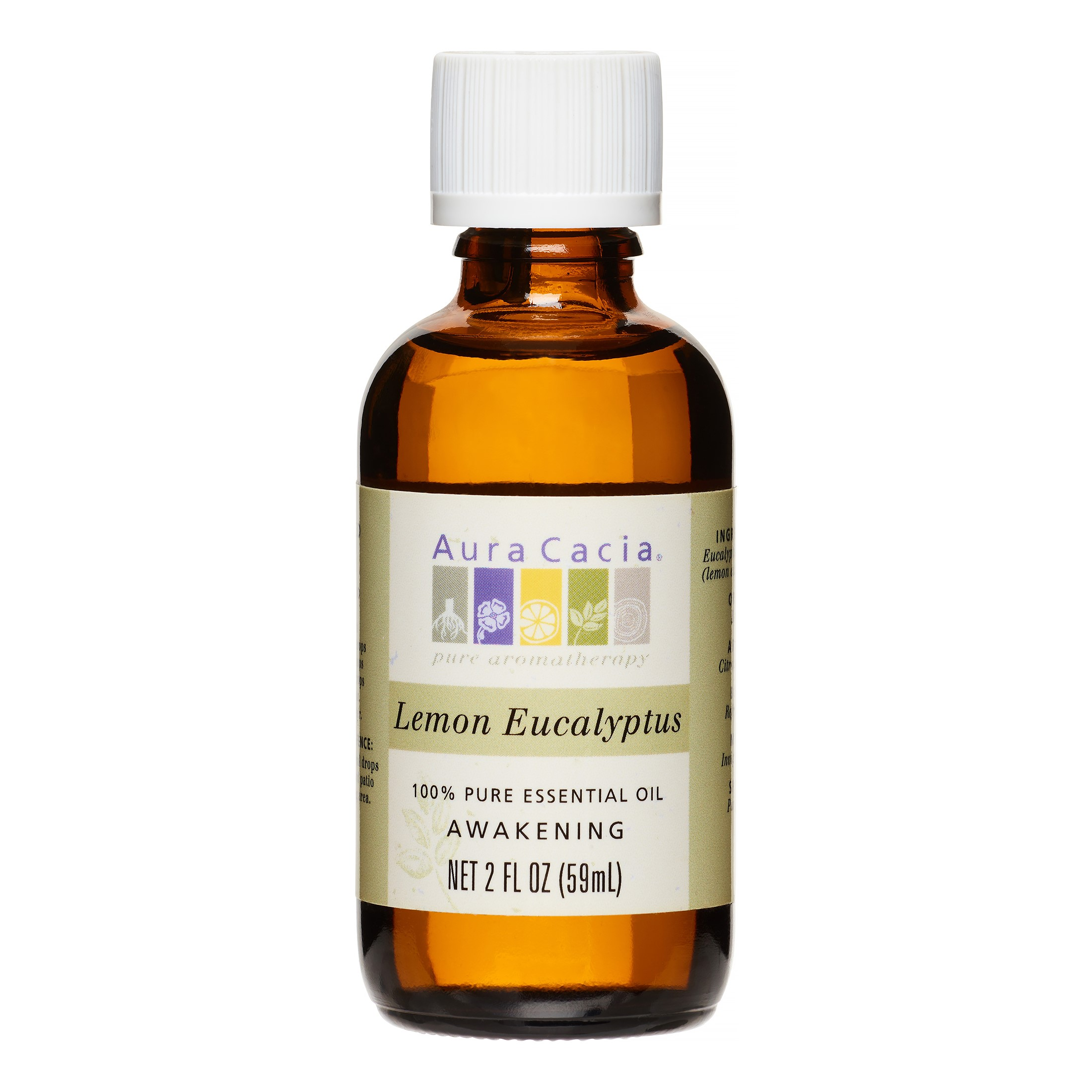 Aura Cacia Essential Oil, Lemon Eucalyptus, 2 Fl Oz