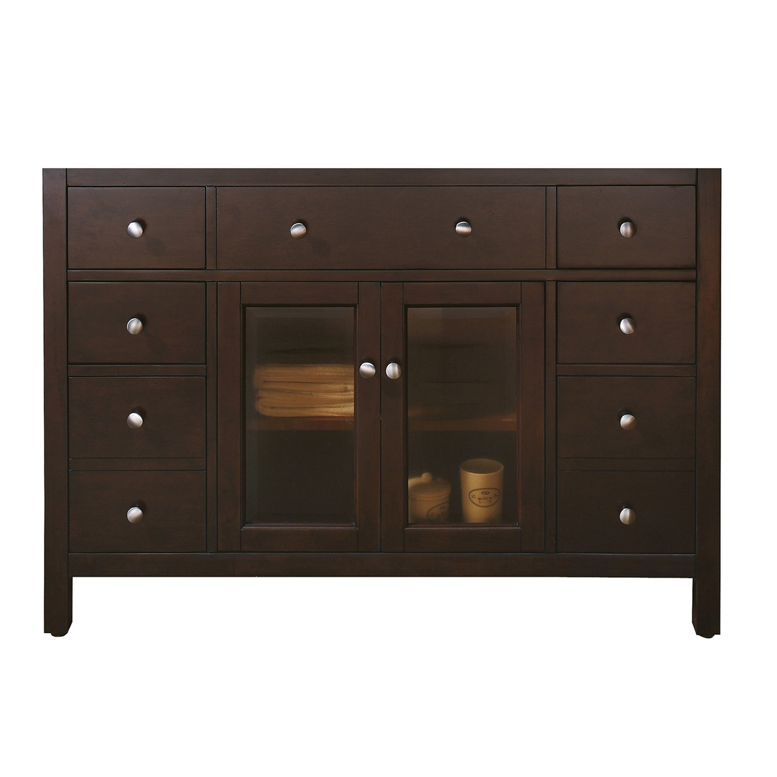 Avanity Lexington 48-inch Light Espresso Finish Vanity Only (Lexington 48 in. Vanity Only in Light Espresso), Brown, Size Single Vanities