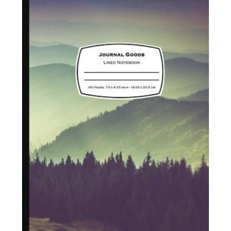 Blank Writing Journals (Journal Goods Lined Notebook: Dark Forest Mountain Design, 7.5 X 9.25, 160 Pages for Writing, Lined Composition Blank Book Journal for School,)