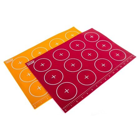 Kitchen + Home Silicone Baking Mats - Set of 2 Non-stick, BPA Free Food Grade Silicone Mat Liners