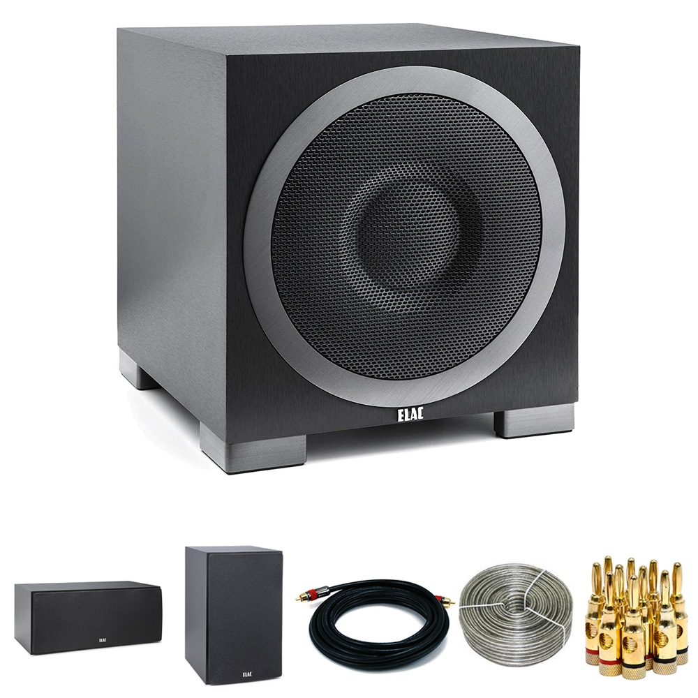 ELAC Debut Series S12EQ 1000W Powered Subwoofer w/App Con...
