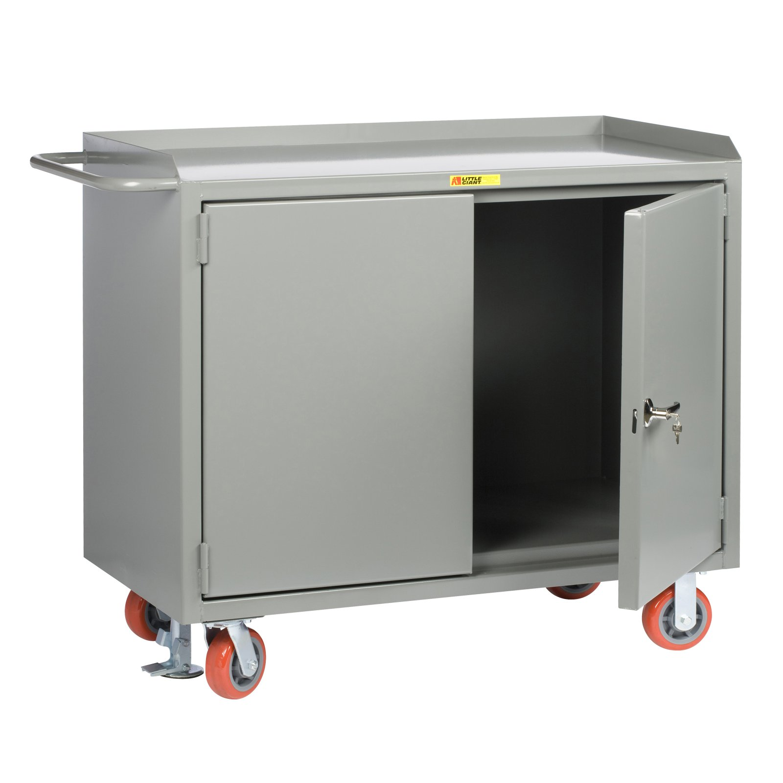 Little Giant Mobile Cabinet Workbench with Locking Doors