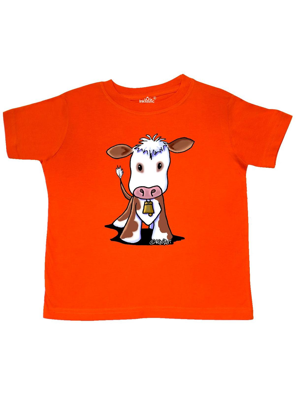 Little Brown Cow Toddler T-Shirt - KiniArt