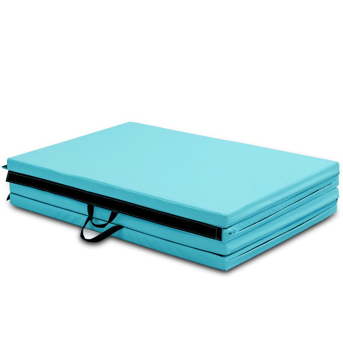 "4'x10'x2"" Gymnastics Mat Thick Folding Panel Aerobics Exercise Gym Fitness Blue - image 7 de 8"