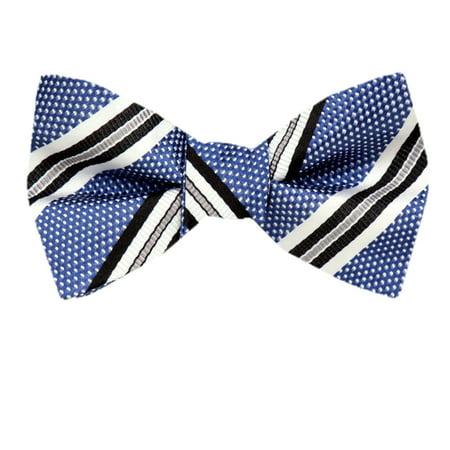 Mens Silk Stripe Self Tie Bow Tie