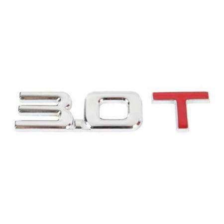 Car Metal Emissions Sticker Emblems Logos Badges Rear Trunk Decal Badge Auto Decoration Sticker 1.8T 2.0T 2.4T 3.0 T](Car Trunk Halloween Decorations)