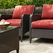 Crosley Kiawah Outdoor Wicker Club Chair - Set of 2
