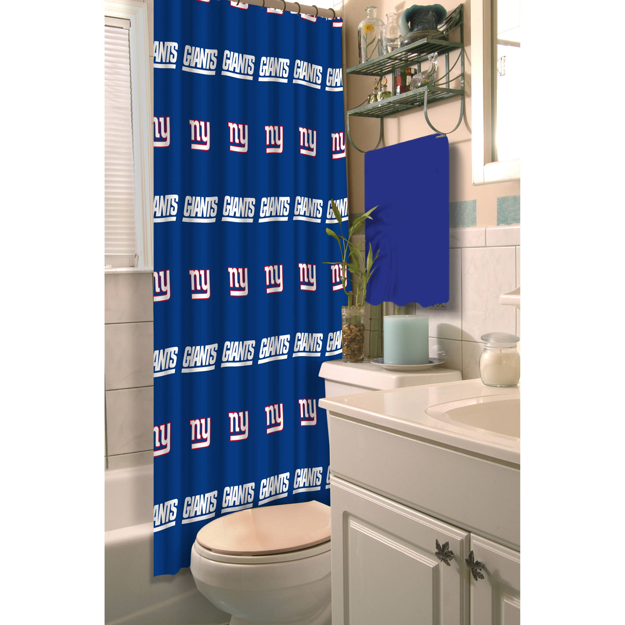 NFL New York Giants Decorative Bath Collection - Shower Curtain