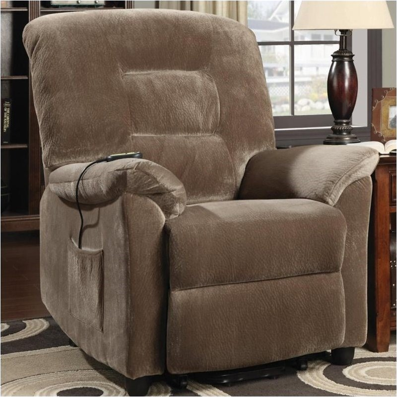 Bowery Hill Power Lift Recliner in Brown Sugar by Bowery Hill