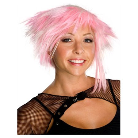Adult Womens Pink Cyber Pixie Costume Spike Wig](Pixie Wig)
