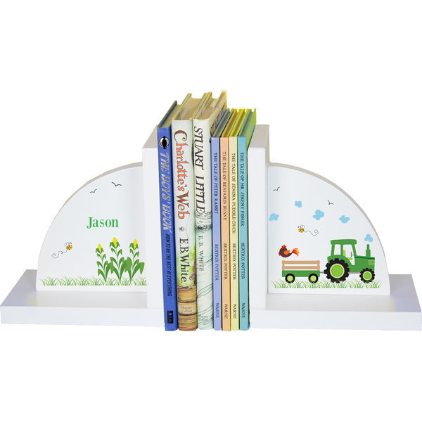 Personalized Tractor Childrens Bookends