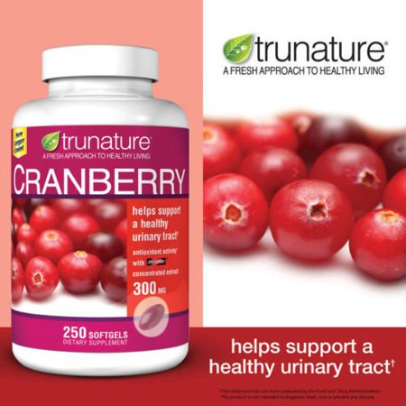 Trunature Cranberry 300 mg Extract Healthy Urinary Tract - 250 Softgels