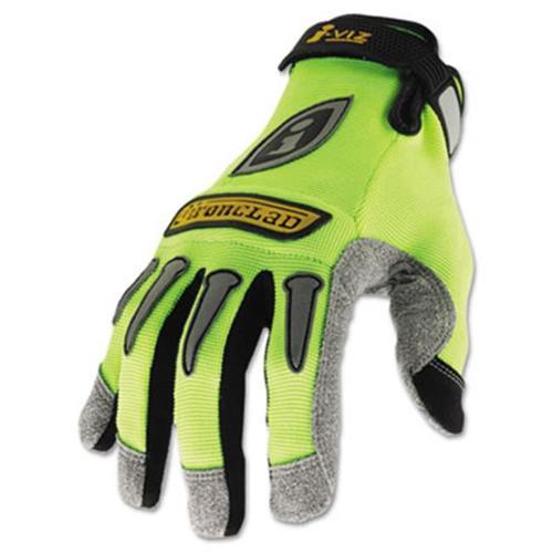 Ironclad IVG204L I-Viz Reflective Gloves, 1 Pair, Fluorescent Green, Large