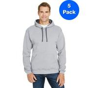 Mens 7.2 oz. Sofspun Striped Hooded Sweatshirt (5 PACK)