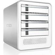 ICY DOCK ICYCube MB561U3S-4S 4 Bay USB 3.0 & eSATA(PM) Hot Swap 2.5'/3.5' SATA HDD/SSD External Enclosure - White