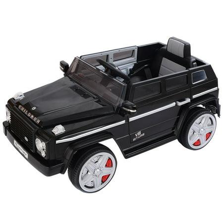 Black 12v 300w Remote - Costway 12V MP3 Kids Ride On Car Battery RC Remote Control w/ LED Lights Black
