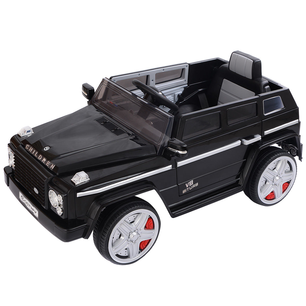 Costway 12V MP3 Kids Ride On Car Battery RC Remote Control w/ LED Lights Black